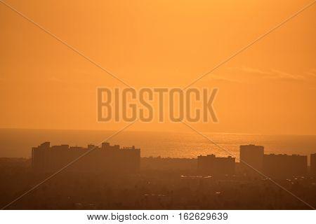 Baldwin Hills Golden Sunset