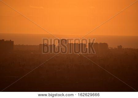 Los Angeles Sunset From Baldwin Hills Overlook