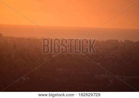 Los Angeles Ocean View From Baldwin Hills Overlook