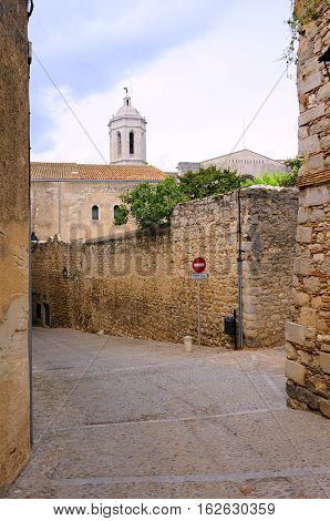 The Jewish quarter in the city of Girona, Spain