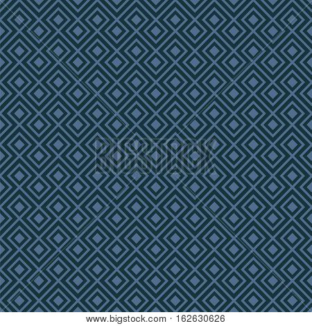 Seamless Geometric Abstract Interlocking Pattern Background Texture in Blue