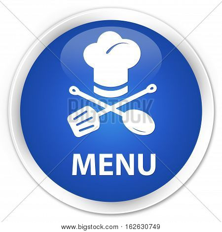 Menu (restaurant Icon) Premium Blue Round Button