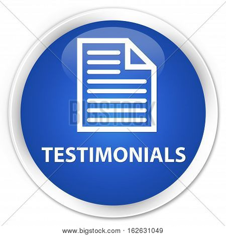 Testimonials (page Icon) Premium Blue Round Button