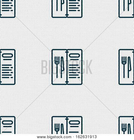 Menu Icon Sign. Seamless Pattern With Geometric Texture. Vector