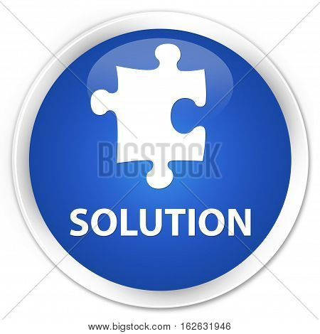 Solution (puzzle Icon) Premium Blue Round Button