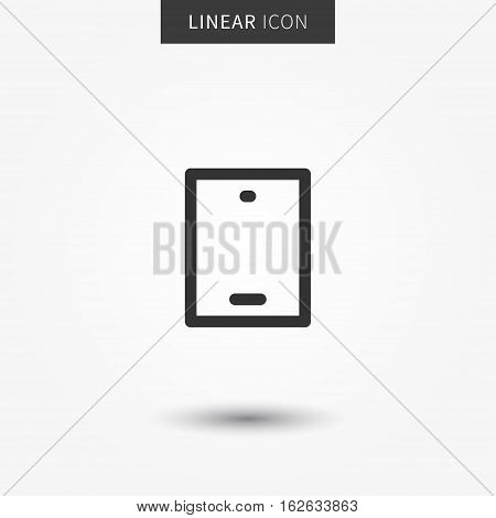Smartphone icon vector illustration. Isolated mobile phone symbol. Mobile device line concept. Mobile gadget graphic design. Smartphone outline symbol for app. Mobile phone pictogram.