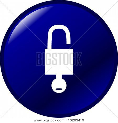 open padlock button