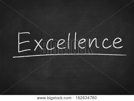 excellence concept word text on blackboard background