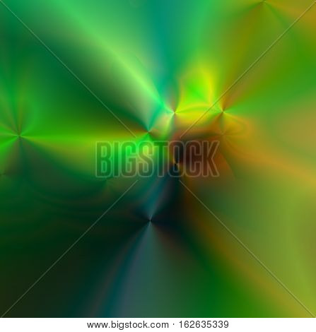 Abstract vibrant color background art , large format, Multicolor light and bright greens geometric blur design and textures. Radiating one of a kind design artwork. of nebula type of deep greens and brown color.