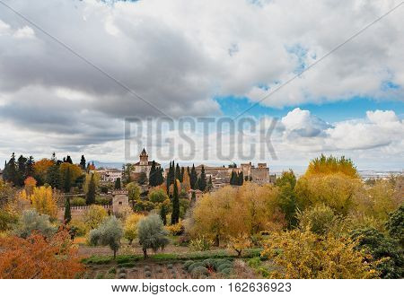 Landscape View Of Alhambra