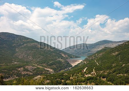 Landscape With Hydro Power Plant