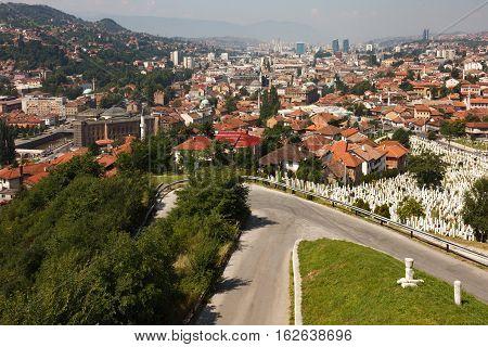 Landscape View Of Sarajevo