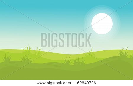 Background hill beauty landscape vector collection stock
