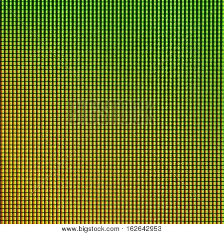 Closeup LED diode of LED TV LED monitor screen display panel. Colorful LED screen background for design with copy space for text or image.
