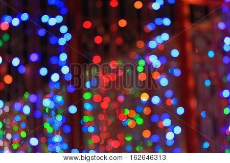 Abstract circular bokeh background of Christmaslight Bokeh light abstract Vector illustrator