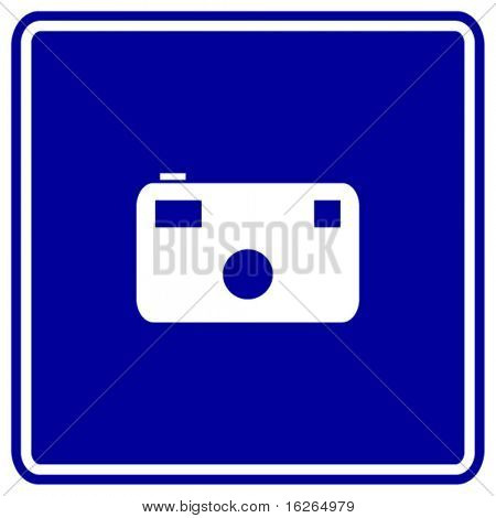 photographic camera sign