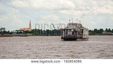 Landscape Of Mekong River In Southern Vietnam