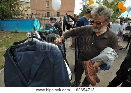 The Distribution Of Free Clothes To The Homeless