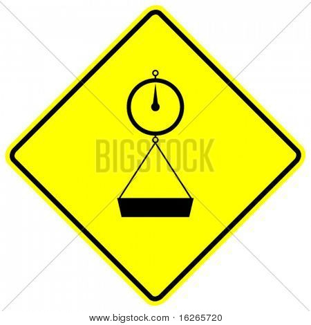 weight scale sign