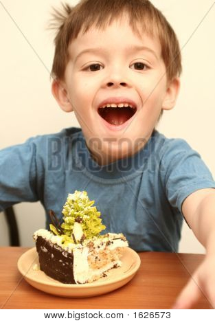 Which The Pie Is Going To Eat Emotions Of The Child