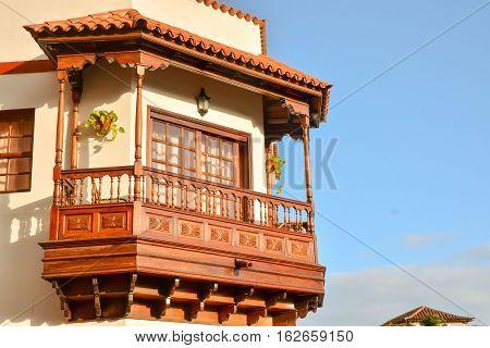 Canarian Wooden Balcony