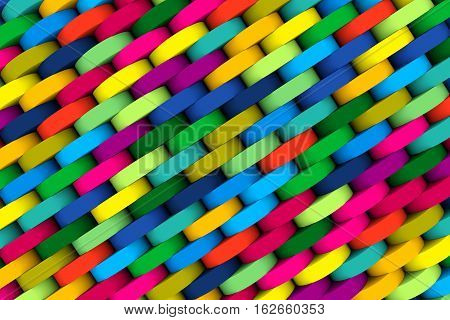 abstract woven background with color wheel colors 3d illustration