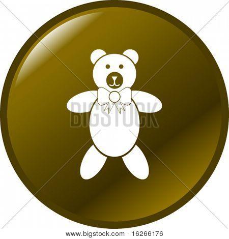 plush bear toy button
