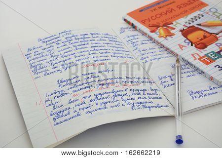Workbook for Russian language wiht school rating