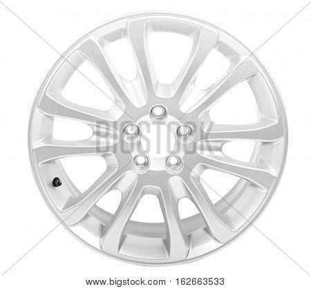 Car alloy wheel isolated on white background