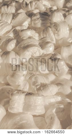 White Polystyrene Beads Background - Vertical