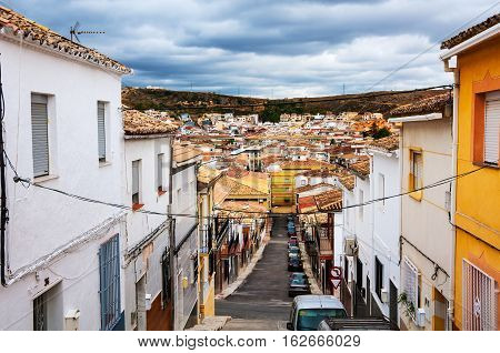 Andalusia Spain. Streets of small town in Andalusia - Alcala la Real Spain