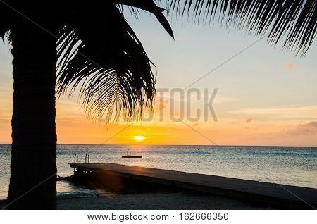 Amazing Sunset At The Porto Mari White Sandy Beach