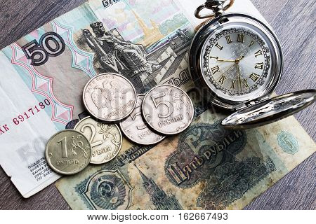 Money Of The Ussr, Russian , Time, Hours