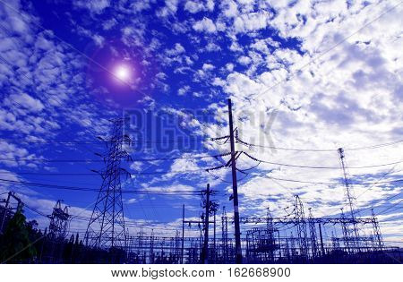 Electricity pylon, Electricity cable electric energy power