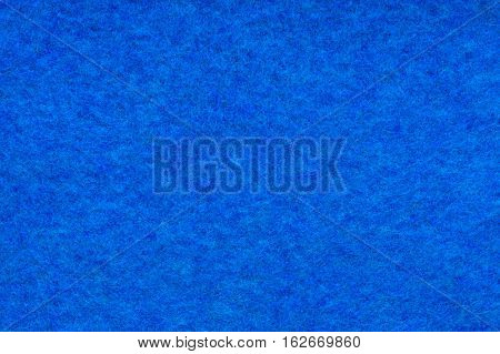 Background And Texture Of Melange Fuzzy Woolen Cloth Of Blue Color. Close Up.