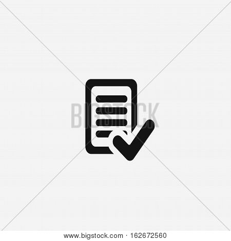 task complete vector icon isolated on white background