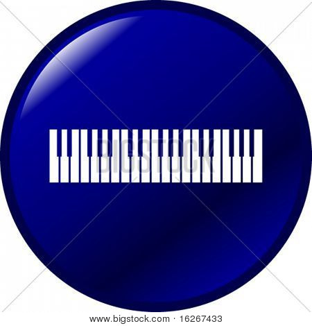 musical keyboard button