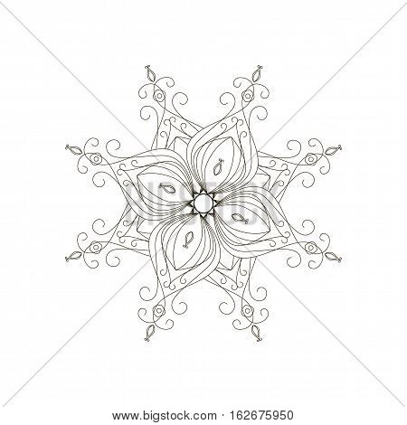 Vector pattern. Unplugged. Mandala isolated jpg eps