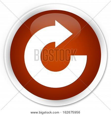 Reply Arrow Icon Premium Brown Round Button