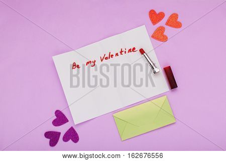 Letter to Valentine's Day confession of love congratulations