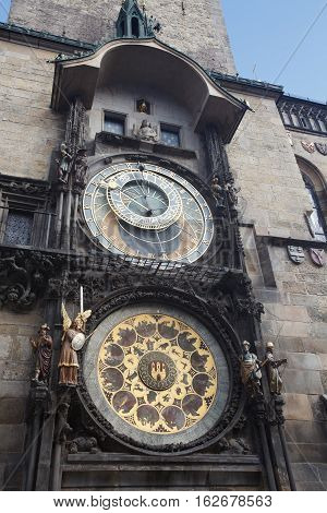 Prague Astronomical Clock At The Old Town City Hall