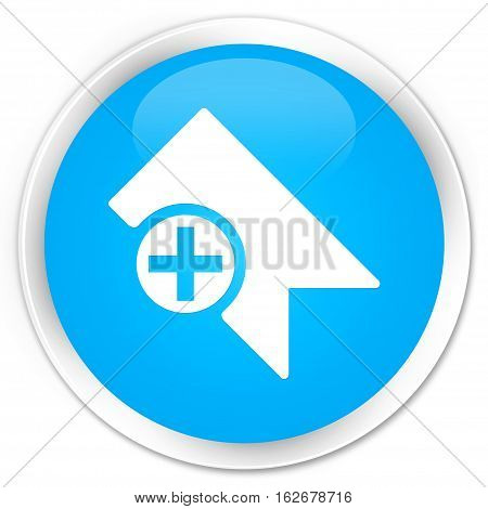 Bookmark Icon Premium Cyan Blue Round Button