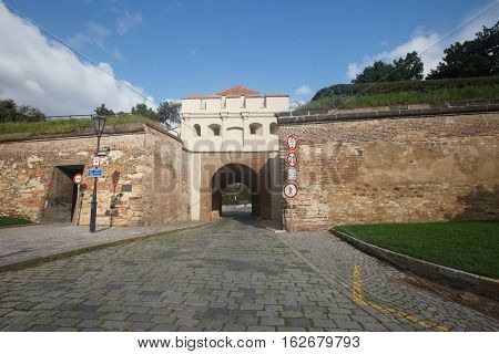 Fortress Wall And Tabor Gate (taborska Brana) , The Entrance To The Fortress Vysehrad, Prague
