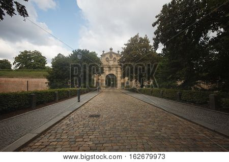The Road To The Leopold Gate, The Entrance To The Fortress Vysehrad, Prague