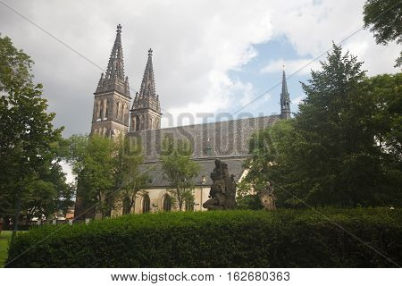 Basilica Of St Peter And St Paul, Vysehrad Cemetery, Prague