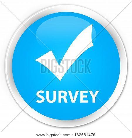 Survey (validate Icon) Premium Cyan Blue Round Button