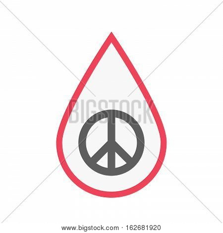 Isolated Blood Drop With A Peace Sign