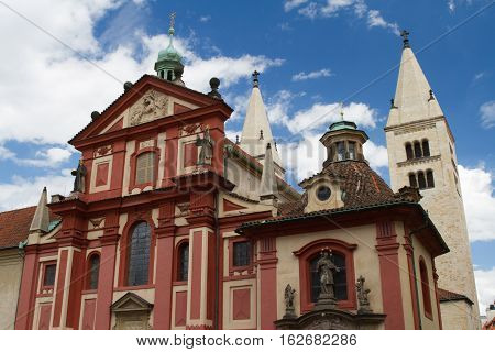 St. George's Basilica (basilika Sv. Jiri) At Prague Castle, Czech
