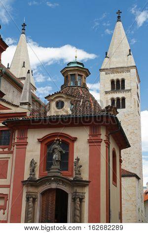 St. George's Basilica Prague Czech republic. vertical