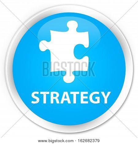Strategy (puzzle Icon) Premium Cyan Blue Round Button